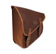 Longride tassen gewaxt katoenen achterbrugtas - bruin