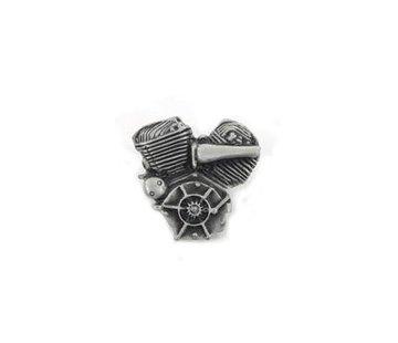 Accessories Flathead lapel pin silver patina.