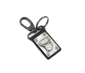 TC-Choppers TC-88 style keychain with silver patina finish Fits: > Universal