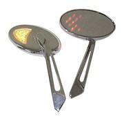 MCS LED Blinker Spiegel, Set - Schwarz oder Chrom