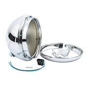 TC-Choppers headlight 7 inch shell - Fits:> 49-59 Hydra