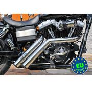 BSL EURO 3 HOT SHOT Abgasmodell Fire genehmigt, Passend für 2008-up Street Bob, Fat Bob und FXDWG Dyna Wide Glide