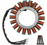 Cycle Electric stator 50A correspond: 99-05 FLH / FLT 50 Amp triphasé de mise à niveau partiel Kit numéro 21120408