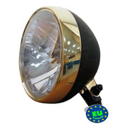 headlight black and bronze