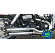 MCJ Slip-on-Schalldämpfer Königlichen Passend 2006-2017 Dyna FXDB Modelle