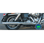 MCJ exhaust Slip-on mufflers Royal Fits:> FLD Switchback or FXDL Low Rider except FXDLS