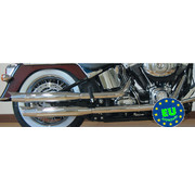 MCJ exhaust Slip-on mufflers Royal Fits:> Softail 2007 -up Fatboy FLSTF