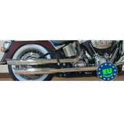 MCJ exhaust Slip-on mufflers Royal Fits:> 2007-UP FLS FLSTN & FLSTSB