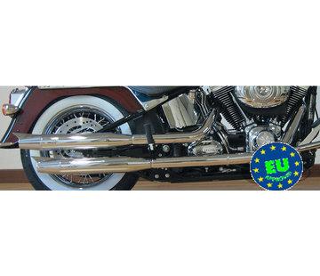 MCJ Slip-on-Schalldämpfer Royal, passt 2007-UP FLS, FLSTN & FLSTSB