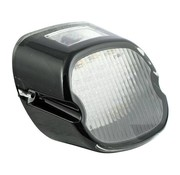 TC-Choppers LED taillight lens dark, top tag window, Late 03-17 Softail, Dyna, FLT/Touring, XL HD models