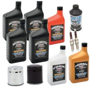 Maintenance Complete Service Kit with spark plugs Engine Drive Train fork Oil Brake Fluid for 82-84 FL FX Shovelhead