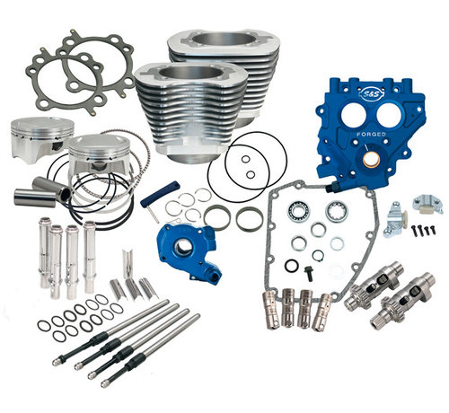 S&S Harley Davidson Harley Engine 100CI and 110CI Power Packs; Fits 1999-2006 Twin Cam   except 2006 Dyna ( chain drive)
