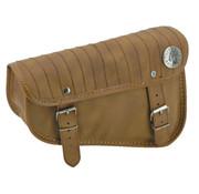 Texas leather bolsas laterales Sportster Eco-Line - negro o marrón con costuras de rayas verticales