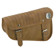 Texas leather Engine   Sportster XL Eco-Line side bags Black or Brown - with vertical stripe stitching