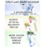 Baby Quasar Limited Edition 14 Karaat Gouden Baby Quasar Plus Wrinkle Reducing Therapy – Rode Collageen en Elastine LED Lamp tegen Rimpels en Lijntjes – Voor een Stralende Huid
