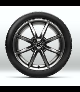 Mazda MX-5 17 Zoll Demontage Alufelgen Design 159 original Satz 4 Stück Brillantsilber mit Hochglanzfinish
