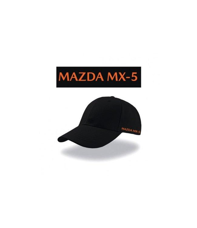 Mazda MX-5 30 Jahre Schirmmütze Baseballcap Heavy Twill Cap mit Stick MX-5 Logo racing orange