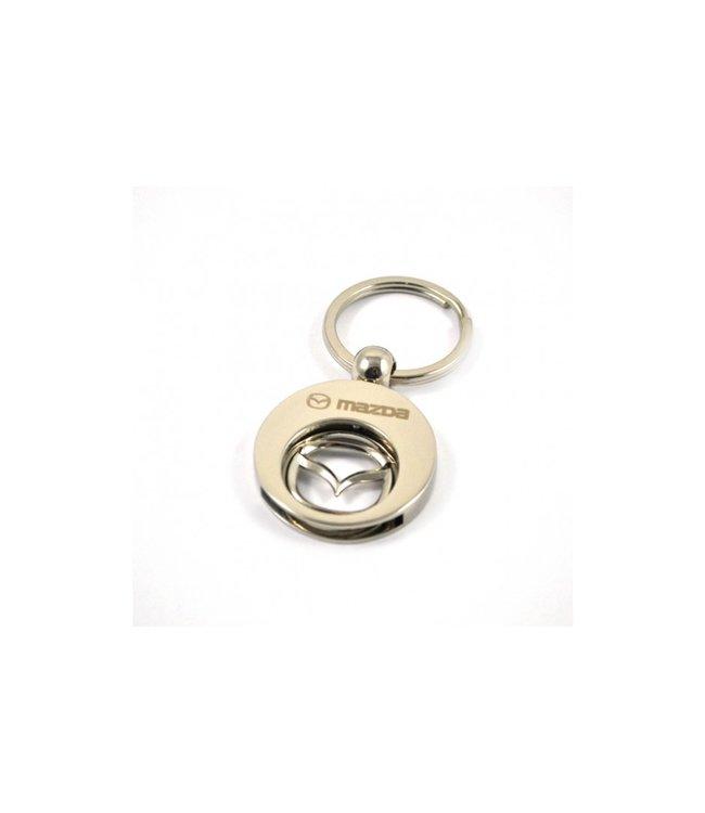 Mazda Metall Einkaufschip Schlüsselanhänger Mazda Logo mit Chip