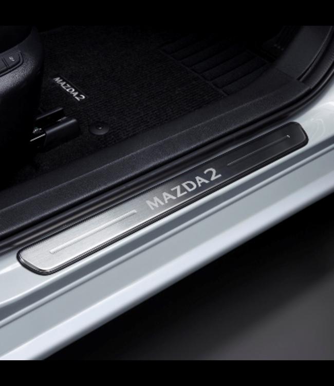Mazda 2 DJ ab 01.2020 Einstiegsblenden, Edelstahl