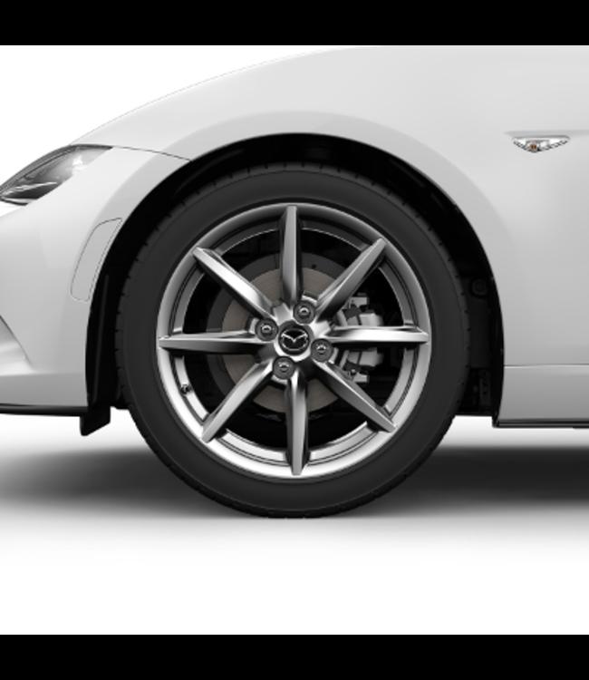 Mazda MX-5 ND Leichtmetallfelge 7,0J x 17 Design 159 Brillantsilber mit Hochglanzfinish Alufelge