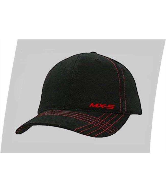 Mazda Schirmmütze MX-5 Cap Race original schwarz/rot