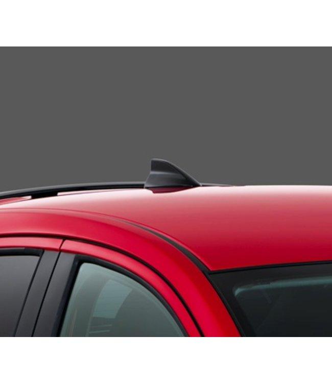 Mazda 2 DJ Shark Fin Antenne Haifischflosse schwarz lackiert