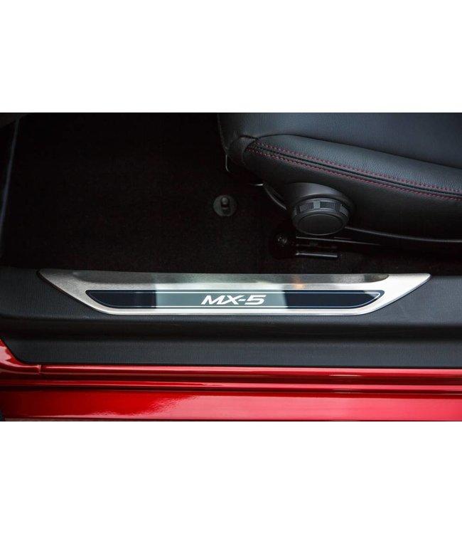 Mazda MX-5 Edelstahl Einstiegsblenden Leisten original 2-teilig