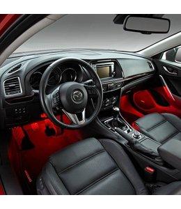 Mazda 3 BM BN Begrüßungsbeleuchtung weiß, rot und blau  Innenraumbeleuchtung original ab 05.2013 Fußraumbeleuchtung