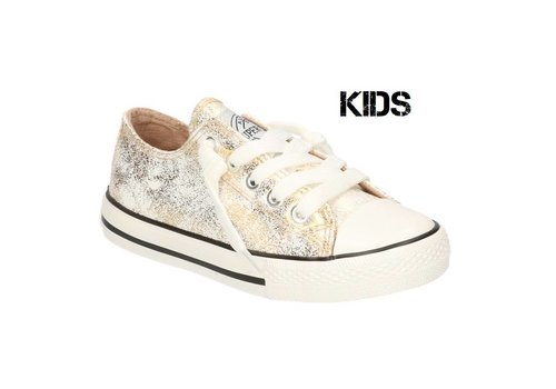 Super Cracks Mirre Kids goud metalic sneaker