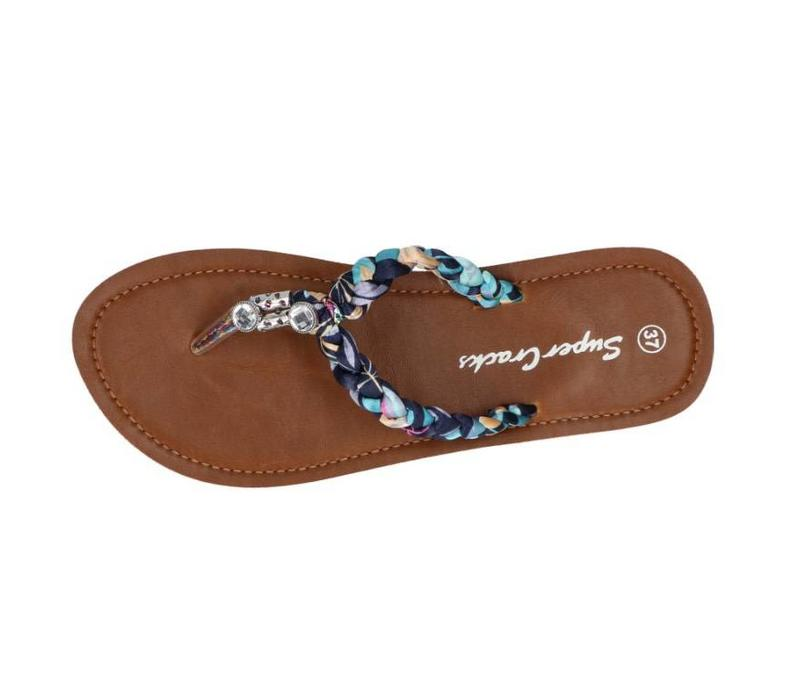 Umbelle slipper blauw/paars