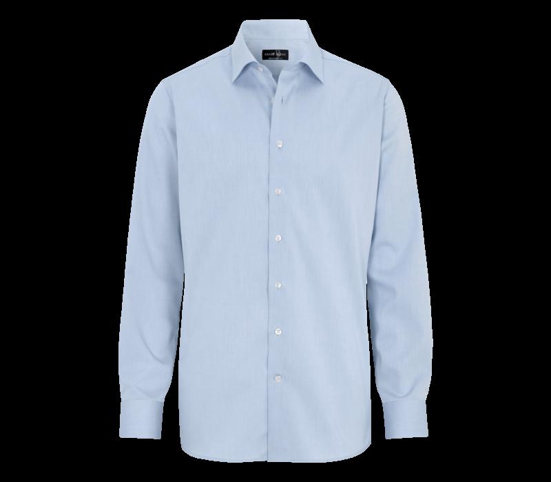 Overhemd Strijkvrij, 100% twill katoen,  modern cutaway boord.