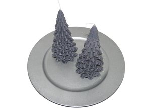 Kerstboom Kaars Antraciet - Christmas Tree Candle 20x10 cm