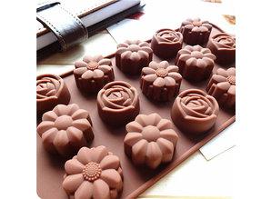 Siliconenmal voor Waxmelts Rozen en Bloemen - Zelf waxmelts maken