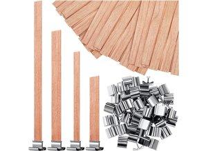Clips voor houten pitten - Zelf kaarsen maken