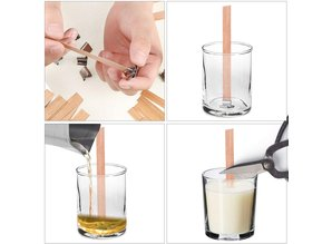 Houten pit medium 14x150 mm per 10 st. - Zelf kaarsen maken