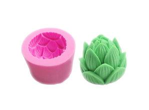 Siliconen kaarsenmal Lotus bloem 77x50 mm - Kaarsen maken