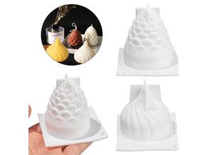 Siliconen kaarsenmal Dennenappel 70x57 mm - Kaarsen maken