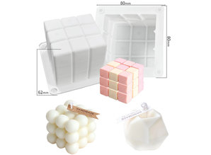 Siliconen kaarsenmal Cube 60x60x60 mm - Kaarsen maken
