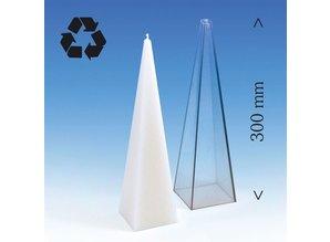 Kaarsenmal Piramide Groot 75x75x300 mm - Kaarsen maken