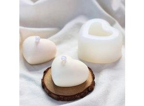 Siliconen kaarsenmal Hart 80x60x40 mm - Kaarsen maken