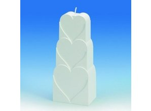 Kaarsenmal Hartmotief 77x51x181 mm - Kaarsen gietmal