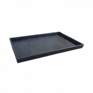 Exclusieve leren dienblad croco print black L50 B80 H6cm