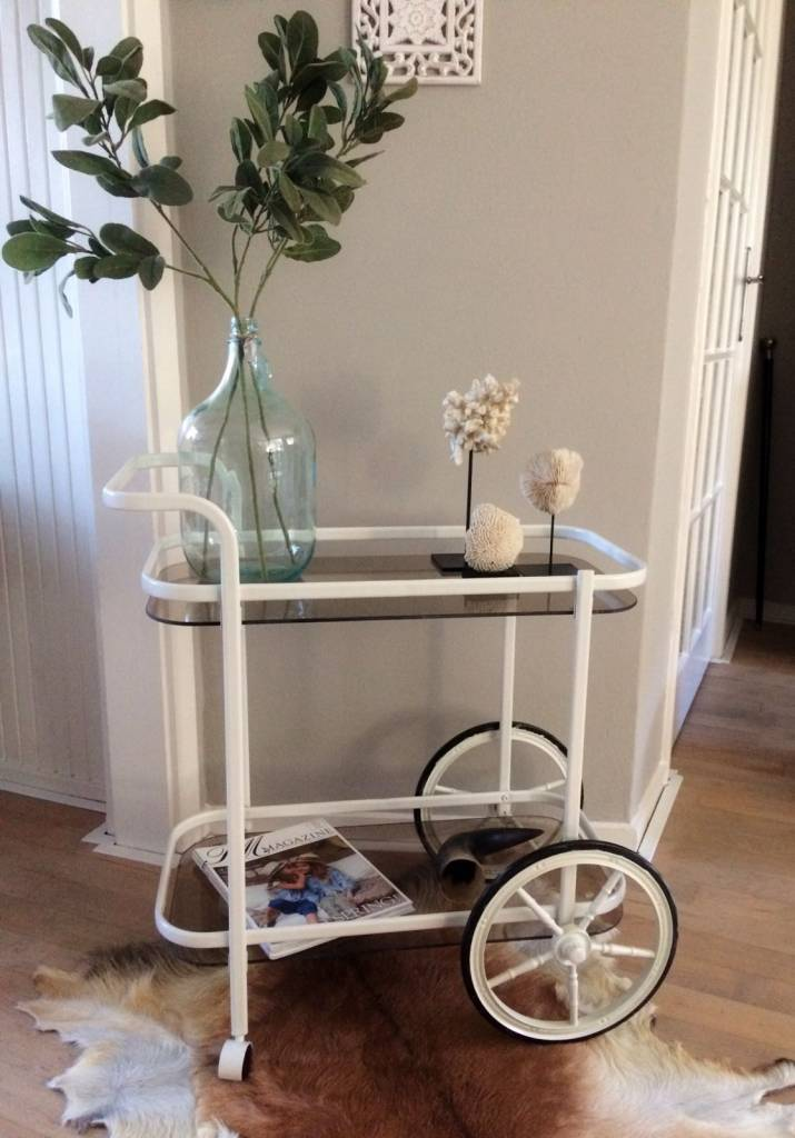 HEOO Vintage Bar Cart White