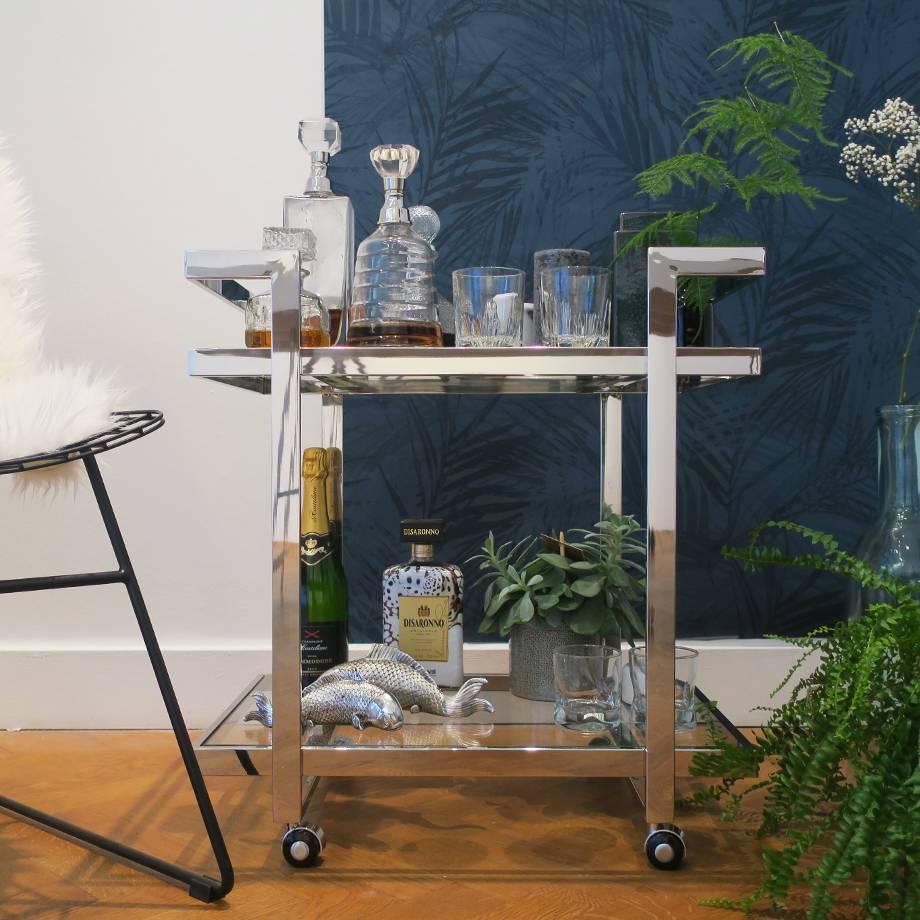 HEOO Vanice Bar Cart Silver