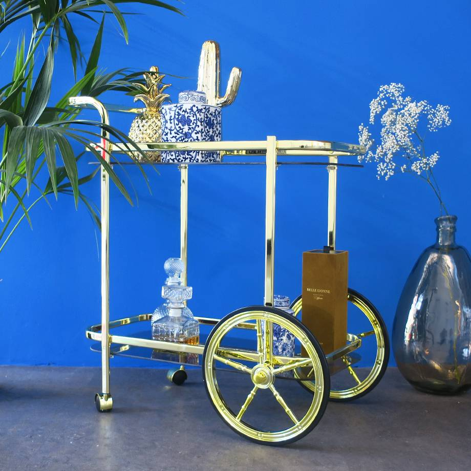 Vintage Golden Bar Cart HEOO