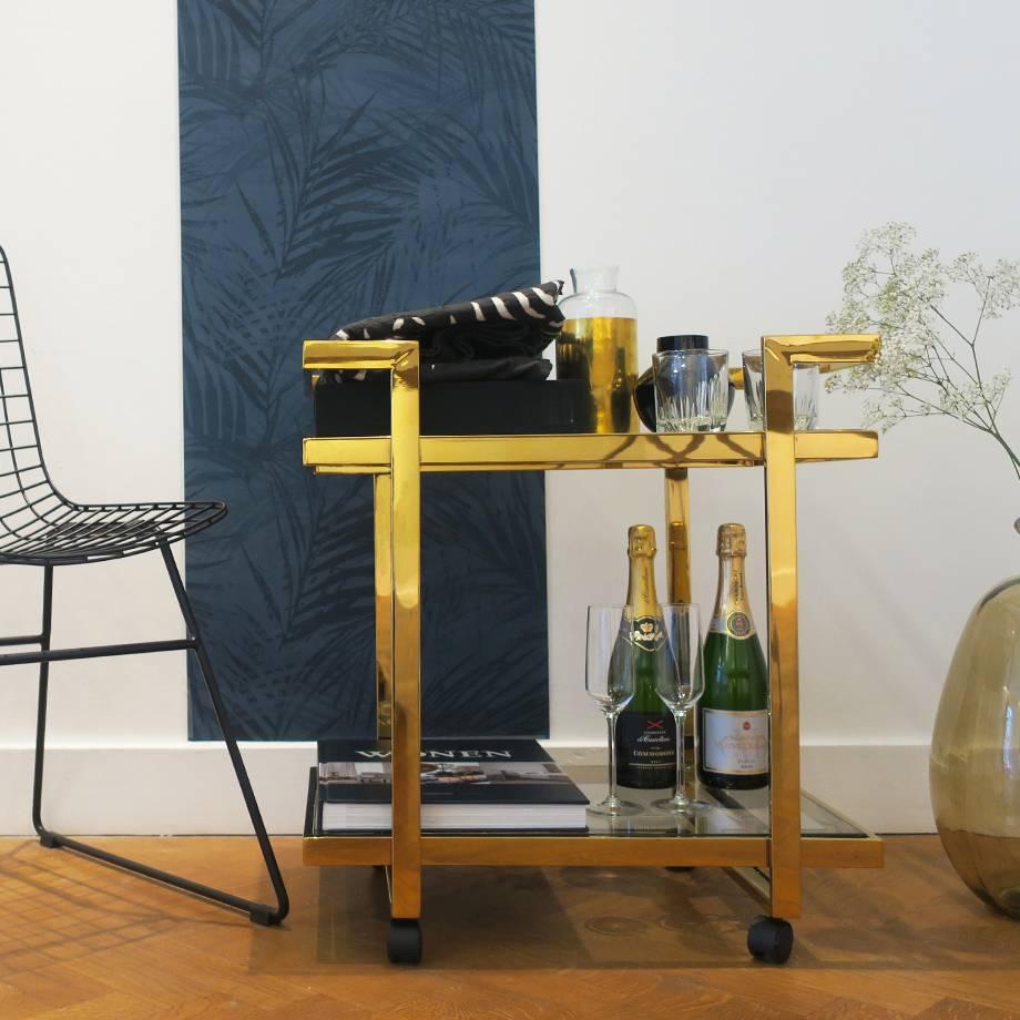 HEOO Vanice Bar Cart Gold