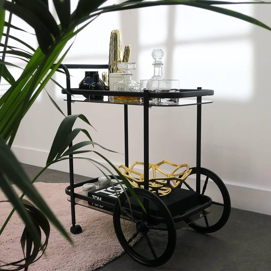 Vintage Bar Cart Black HEOO