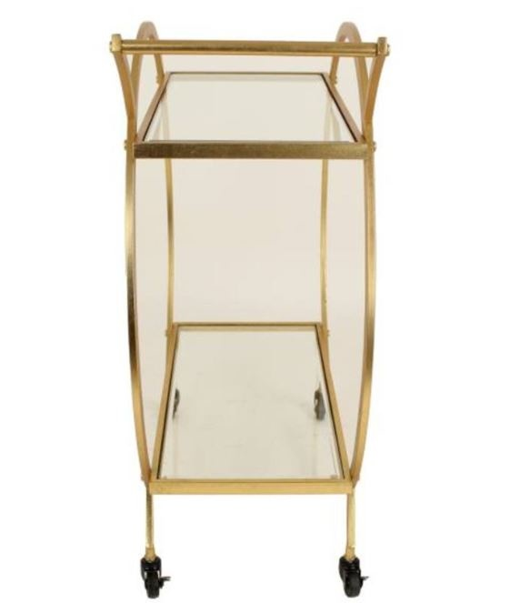 HEOO Cabinet Bar Cart Gold