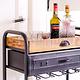 HEOO Industrial Vino Bar Cart