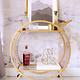HEOO Cabinet Bar Cart Gold